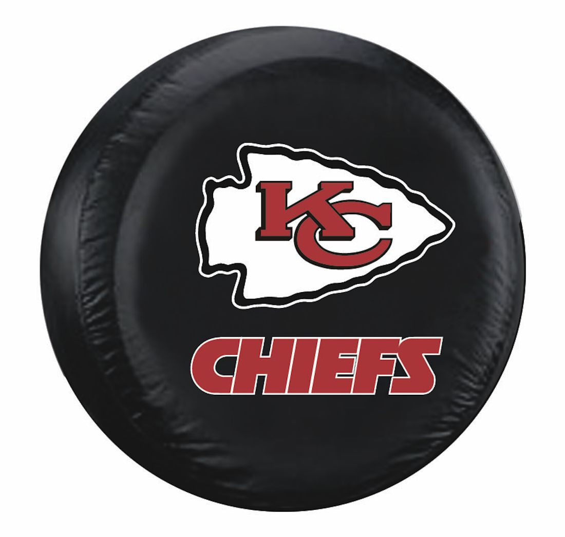 Kansas City Tire Cover With Chiefs Logo On Black Standard