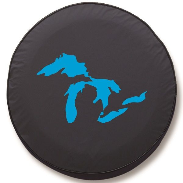 Michigan Great Lakes Tire Cover On Black Vinyl