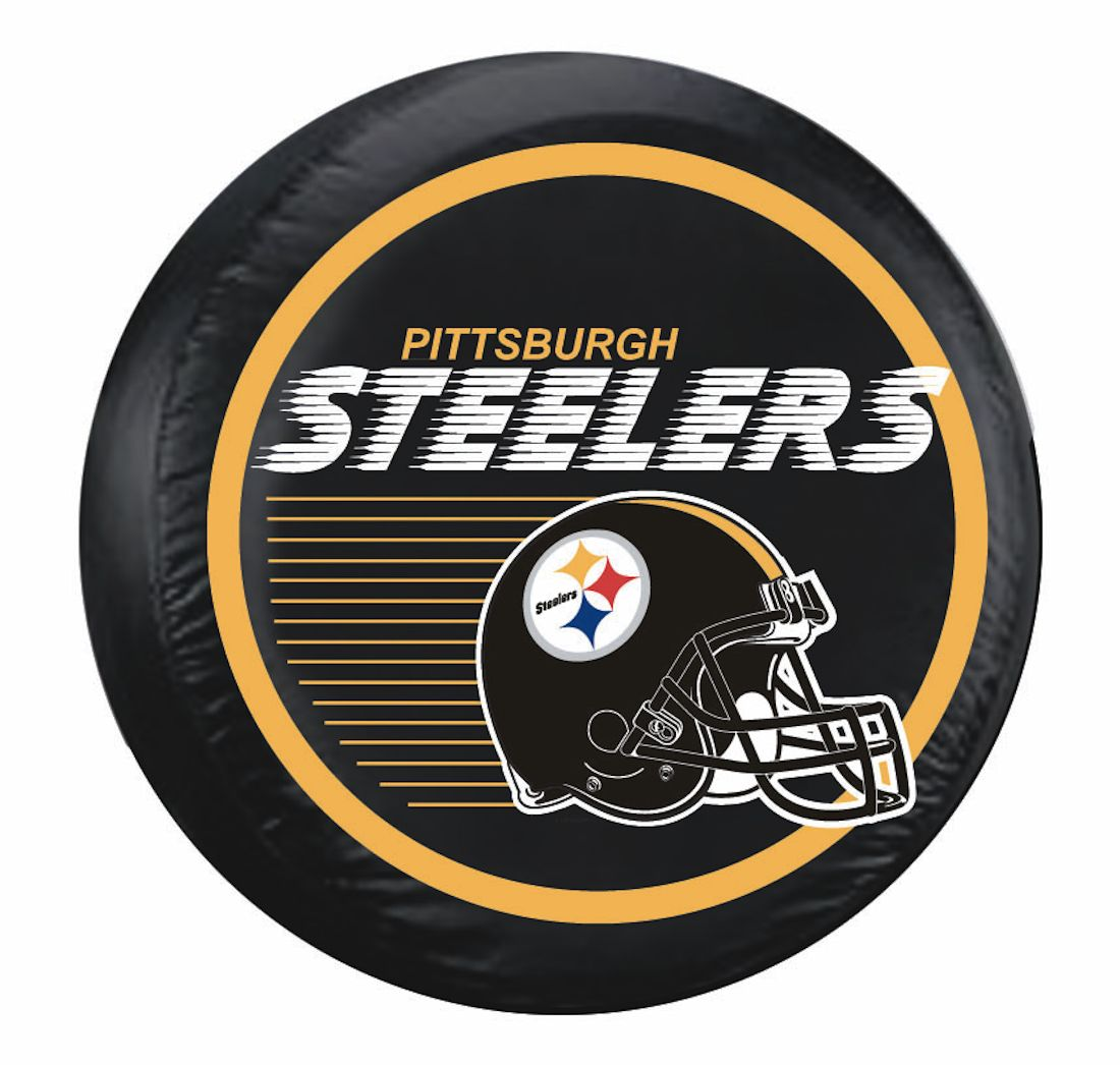Pittsburgh Steelers Standard Tire Cover W Helmet Logo