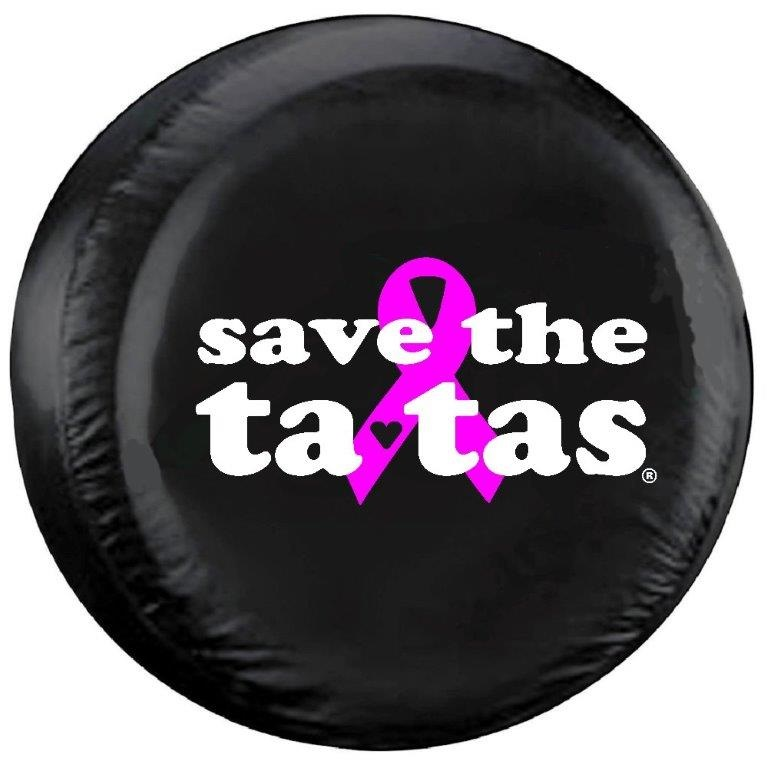 Save the Ta tas Tire Cover on Black Vinyl : SavetheTatas from www.teamsportscovers.com size 768 x 768 jpeg 79kB