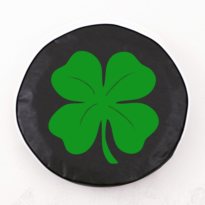 Four Leaf Clover Black Spare Tire Cover By HBS | Covers