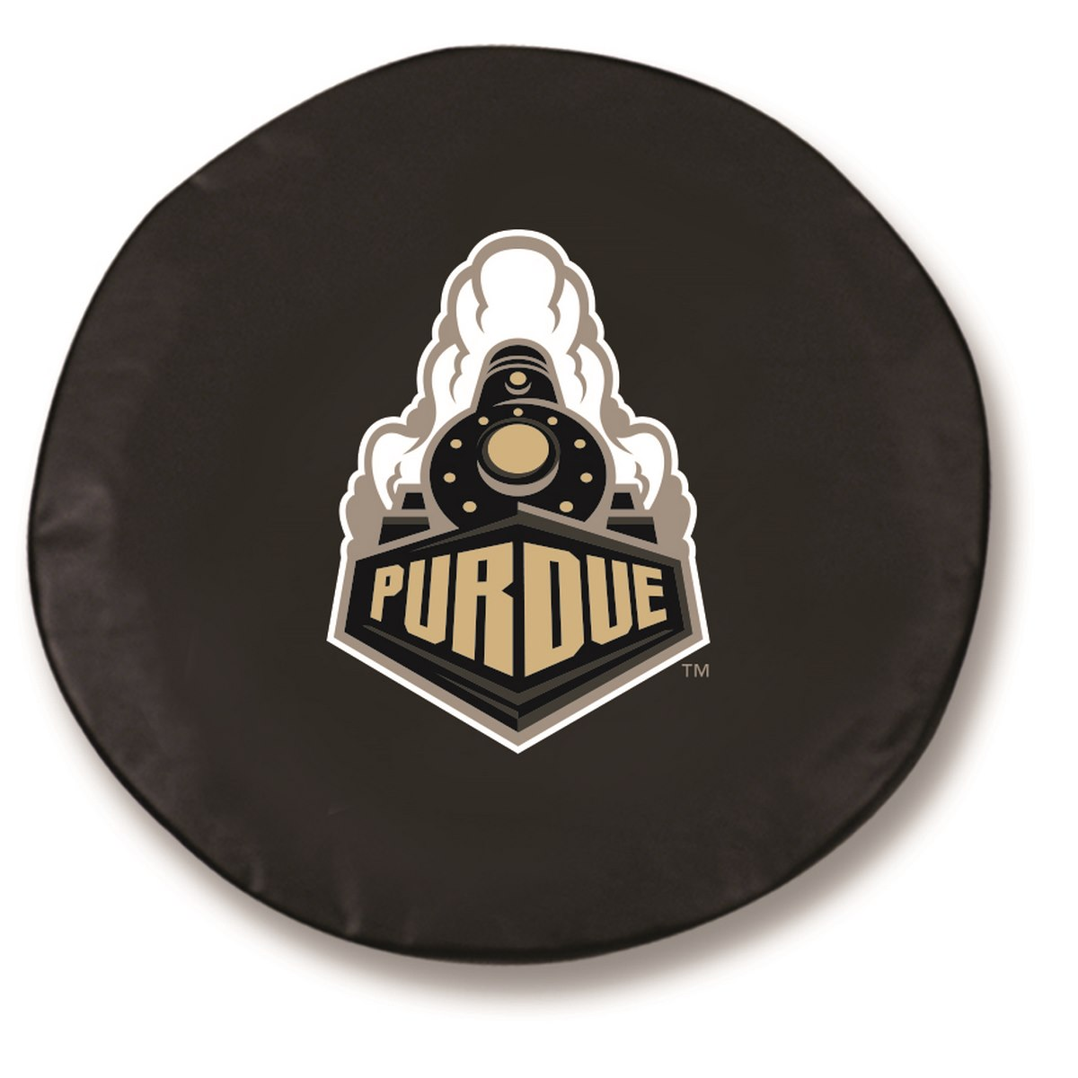 Purdue Boilermakers Black Spare Tire Cover By HBS | Covers