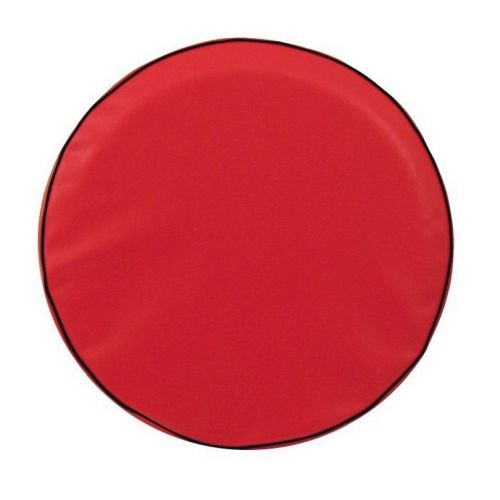 Red Tire Cover For Jeep And Rv Plain Vinyl