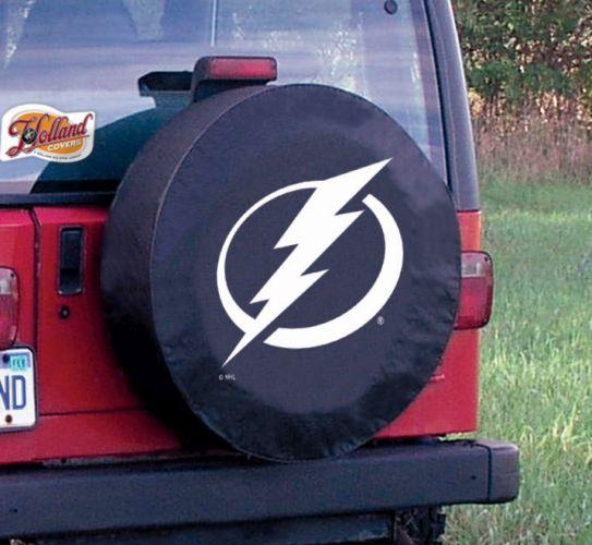 Tampa Bay Lightning Tire Cover On Black Vinyl