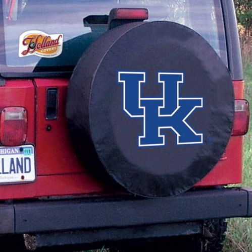 University Of Kentucky Tire Cover W Uk Logo On Black Vinyl