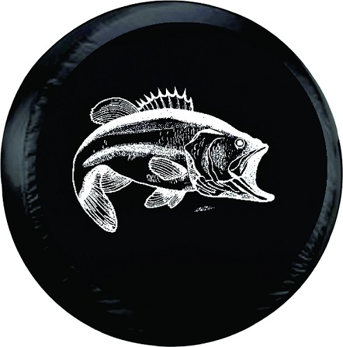 Bass Fishing Tire Cover on Black Vinyl : bassfishing from www.teamsportscovers.com size 494 x 500 jpeg 58kB