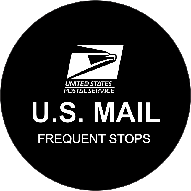 Us Mail Postal Tire Cover On Black Vinyl