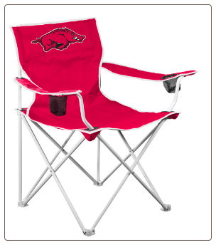 Arkansas Razorbacks Deluxe Adult Logo Chair