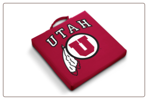 Utah Utes Team Logo Stadium Cushion