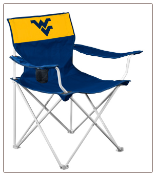 West Virginia Mountaineers Canvas Logo Chair