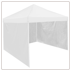 Logo Chair Canopy Tent Side Panel - White