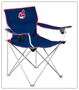 Cleveland Indians MLB Deluxe Adult Logo Chair