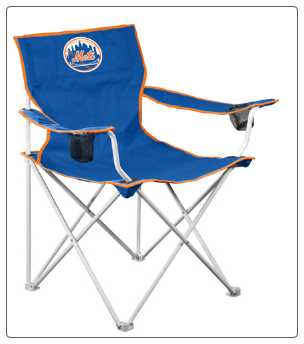 New York Mets MLB Deluxe Adult Logo Chair