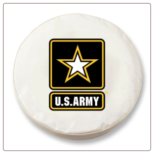 United States Army Military White Spare Tire Cover