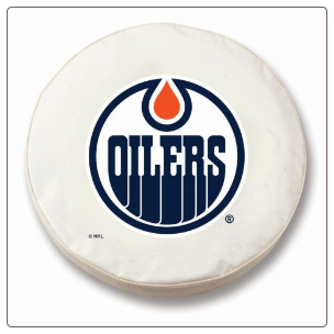 Edmonton Oilers NHL Tire Cover White